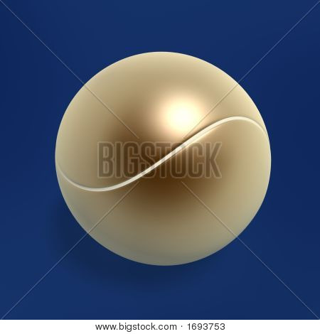Golden Tennis Ball
