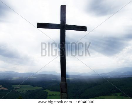 Cross with God Rays