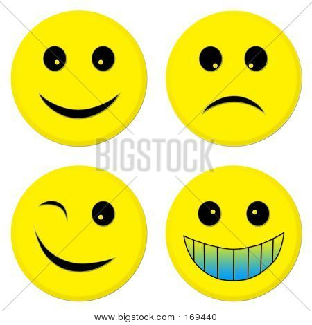 Four Emoticon Friends