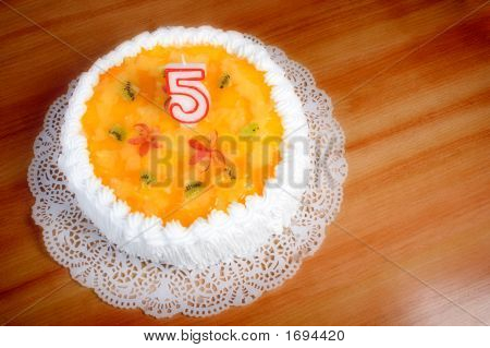 Birthday Cake Celebrating Five Years