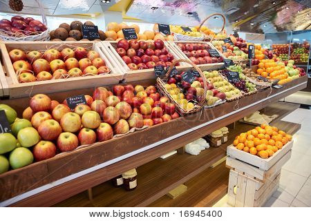 Shelf With Fruits