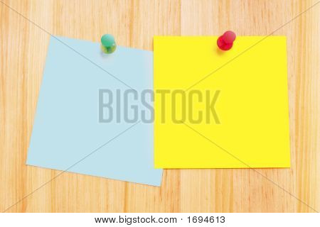 Notes On Wood Background