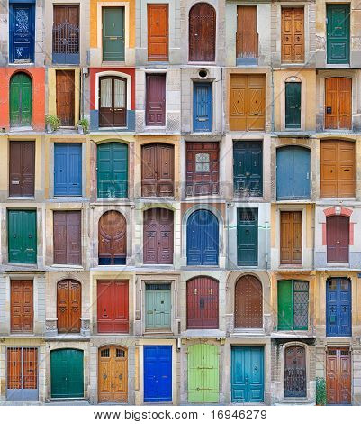 colored front doors, Barcelona Vol2