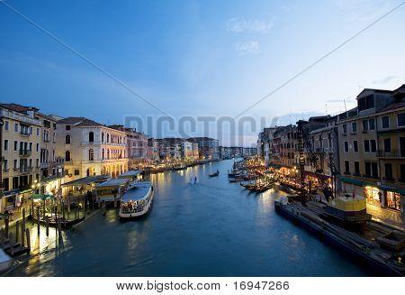 Grande canale by night, unique evening in Venice...