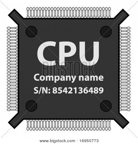 Vektor CPU-chip