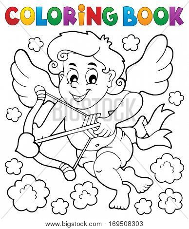 Coloring book with Cupid 5 - eps10 vector illustration.