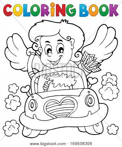 Coloring book with Cupid 4 - eps10 vector illustration.
