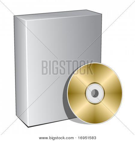 cuadro 3d Vector con disco compacto