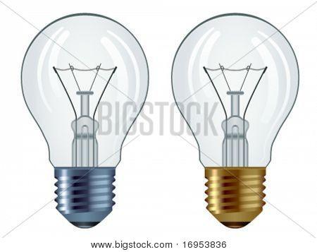 vector bulbs isolated