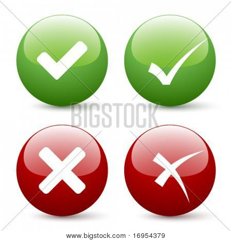 vector check mark buttons