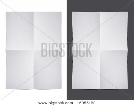 vector white folded paper