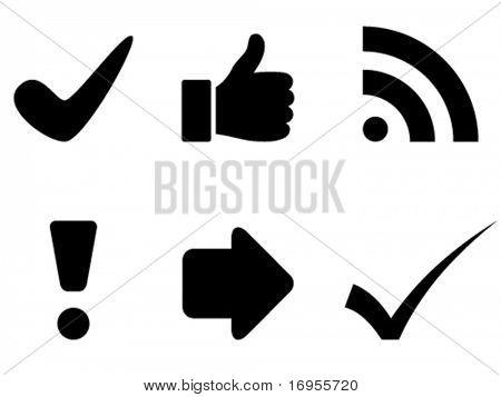 símbolos vector preto