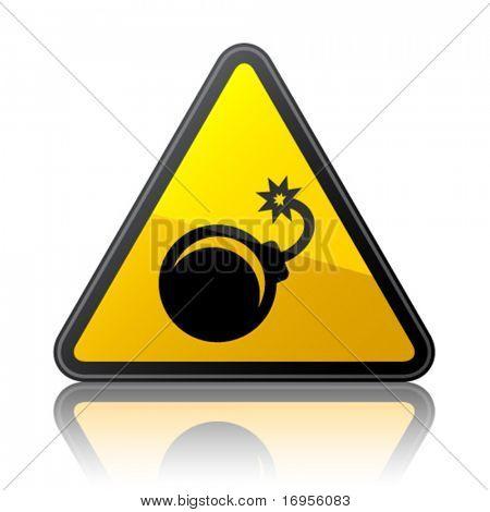 Vector de señal de advertencia de bomba