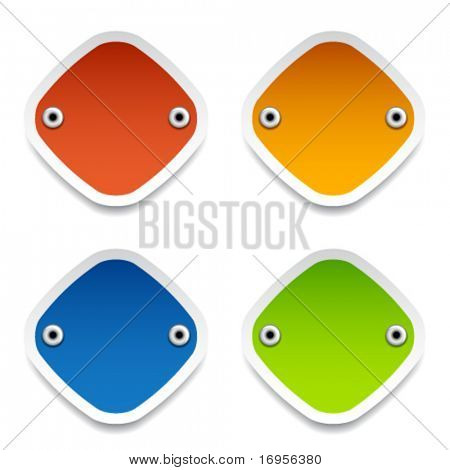 vector blank labels