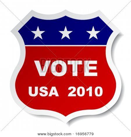 Vektor-patriotischen Abstimmung-Aufkleber