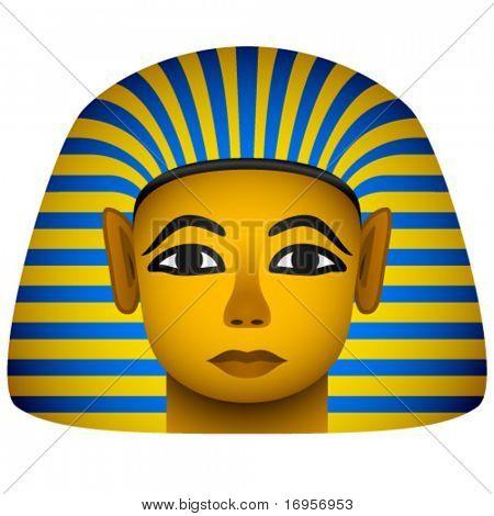 vector golden mask of the egyptian pharaoh