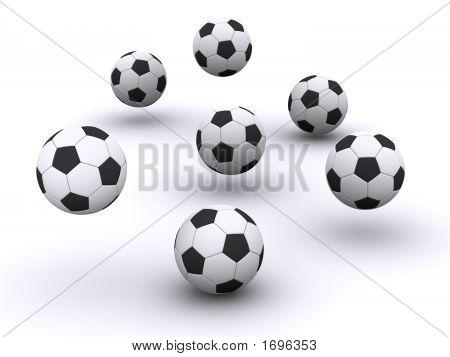 Many Soccerballs