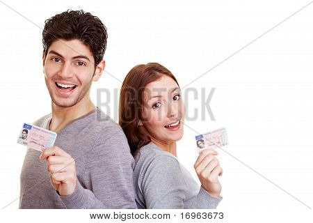Two Young Adults With Driving License