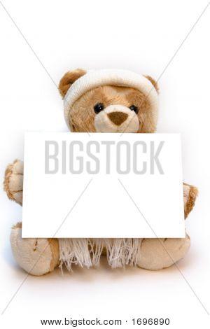 Teddy Bear With Blank Card