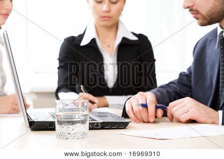 Image of  workplace during business seminar