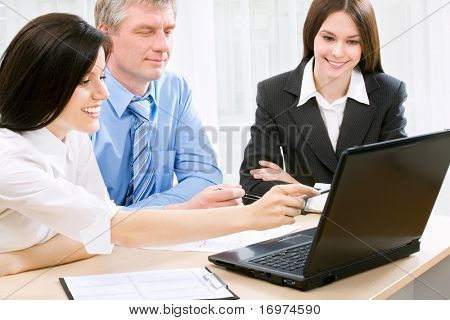 Business people in an office environment