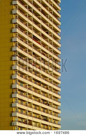 modern aparment building