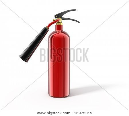 Fire extinguisher isolated on white - 3d render. With clipping path