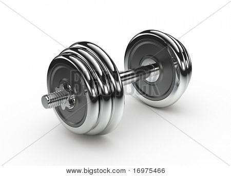 Dumbbell isolated over a white background