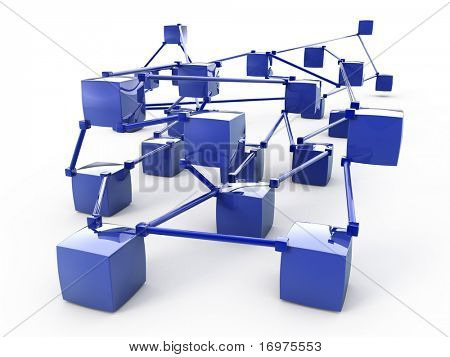 Abstract network 3d scheme