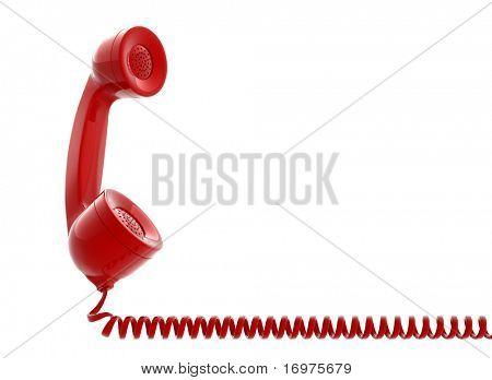 Old telephone tube isolated on white