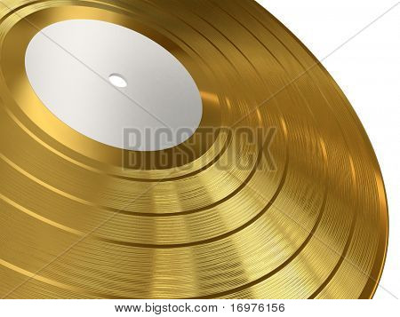 Gold gramophone record