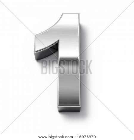 números de metales 3D - número 1