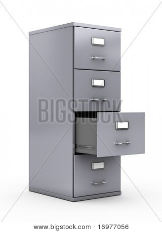 Aktenschrank isolated over white background