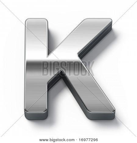 Metal alphabet symbol - k