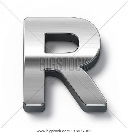Metal alphabet symbol - r