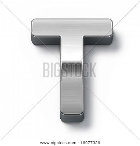 Metal alphabet symbol - t