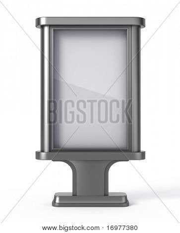 Blank Billboard isolated on white