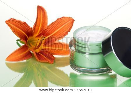 Face Cream And Flower