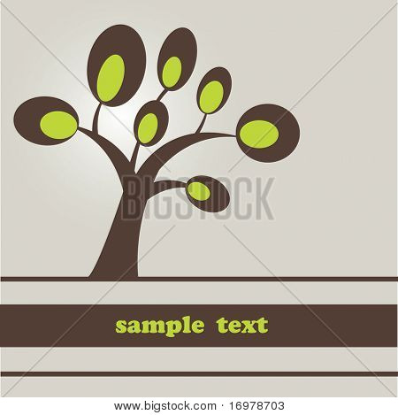 Abstract background with tree for your design. Vector Illustration.