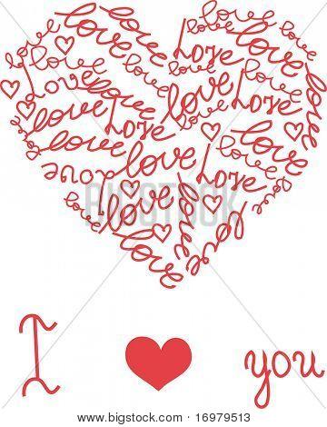 Hand drawn heart. Vector illustration