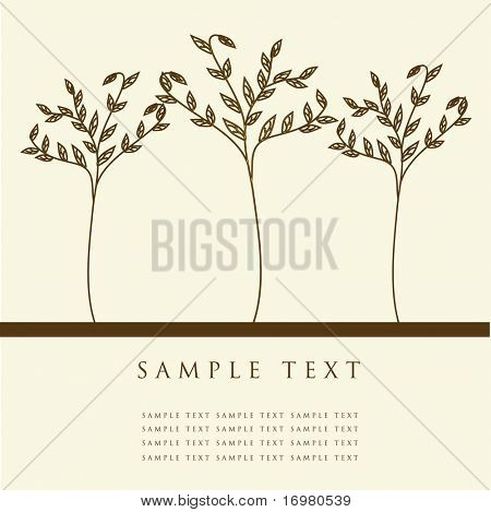 Abstract trees. Vector illustration.