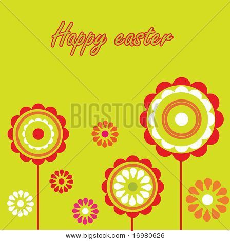 Easter card. Vector.