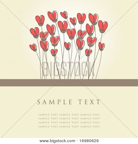 Vintage heart card.Vector illustration.