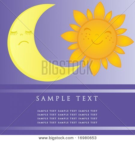 Sun and moon symbols. Vector illustration.
