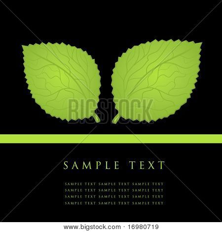 Green leaves card.