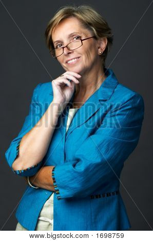Businesswoman Smiles
