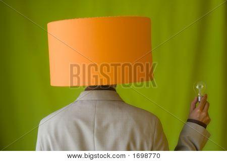 Businessman Lamp Head