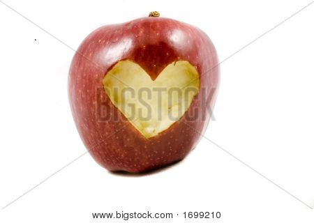 Red Apple Whit Heart