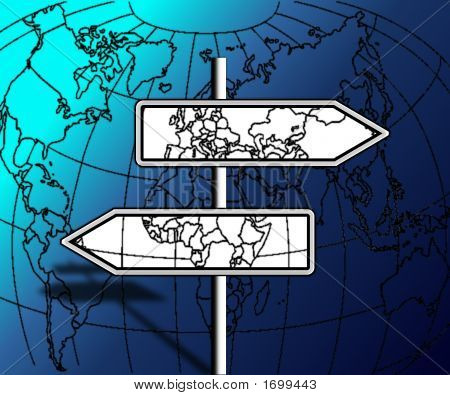 Direction Travels On The World