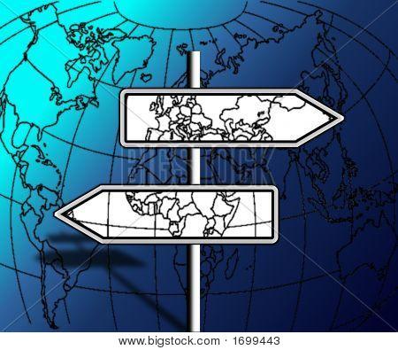 Dirección viaja en el mundo
